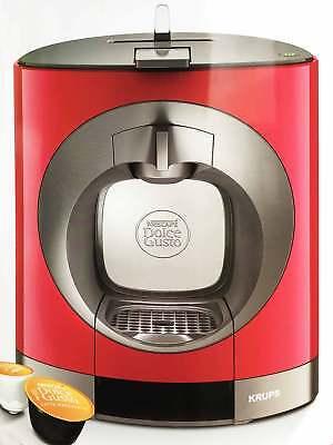 Dolce Gusto Kaffee Kapsel Maschine Automat Nescafé Oblo Krups KP 1105 Rot