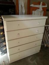 WHITE CHEST OF DRAWERS - $80  AND OTHER FURNITURE Murrumba Downs Pine Rivers Area Preview