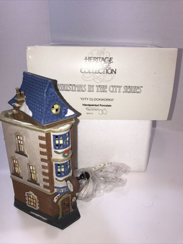 Dept 56 1992 Heritage Village ~ City Clockworks ~ Original Box EUC