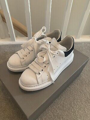 Alexander Mqueen Trainers UK Size 4 White And Black. Box And Dust Bag Included.