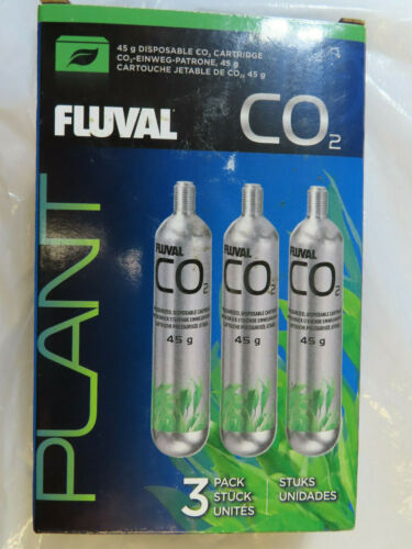 FLUVAL 3-PACK CO2 45g DISPOSABLE CO2 CARTRIDGE AQUARIUM BRAND NEW