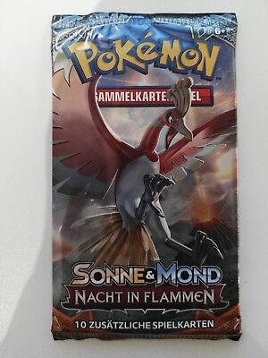 Pokemon Sonne & Mond Nacht in Flammen Booster Deutsch