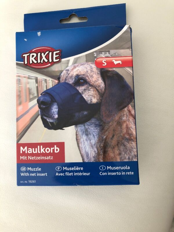 Trixie+Polyester+Dog+Muzzle+With+Net+Insert%2C+Small%2C+Black