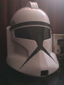 Star  Wars adult clone trooper voice changer helmet ($10)