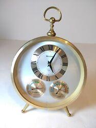 Bulova Vintage Desk Mantle Quartz Clock Weather #4RG649 Japan
