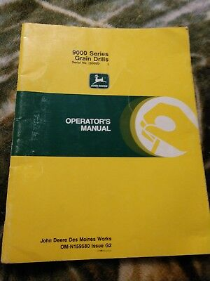 John Deere 9000 Series Grain Drill Operators Manual Serial 30000- Up