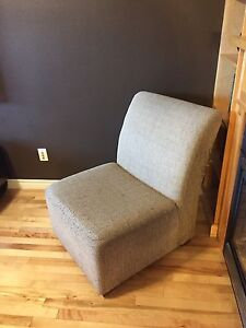 Comfy armless accent chair