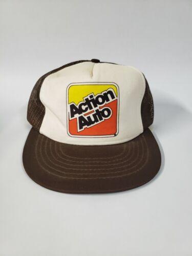 Vintage Action Auto Snap Back Trucker Hat
