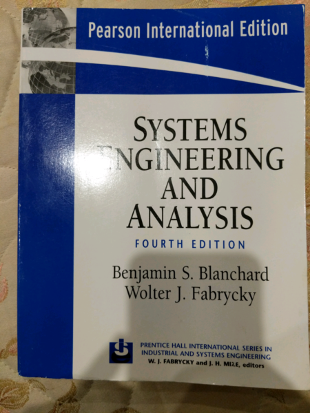 Systems engineering and analysis book textbooks gumtree 1 of 1 fandeluxe Gallery
