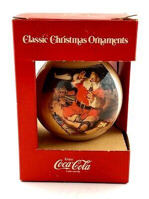VTG Classic Coca-Cola Christmas Ornament Santa Train Set Corning Glass Works