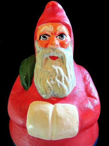 RARE Vintage Antique  EARLY GERMAN Santa Claus Roly Poly ORIGINAL BOX. N.O.S.