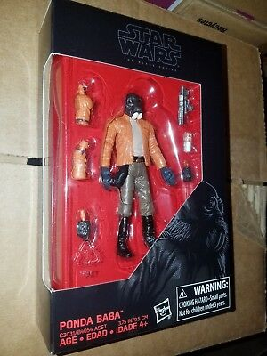 "nEw Hasbro Star Wars Black Series Exclusive Ponda Baba 3.75"" figure"
