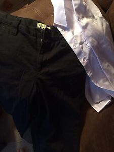 Boys size 12 pants and white dress shirt