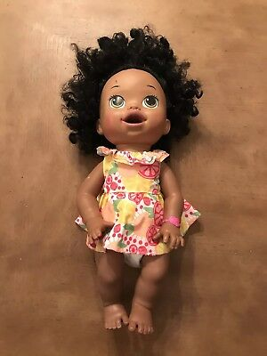 Baby Alive Doll Soft Face Interactive Talks Ethnic Black Hispanic 2014 African for sale  Huntsville