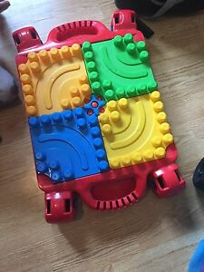 Lego table with large legos