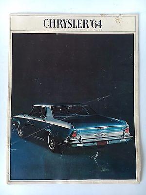 Chrysler '64 New Car Fold Out Brochure