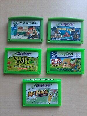 LeapFrog Explorer Lot of Game Cartridges - I Spy, Mr Pencil, Pixar Pals