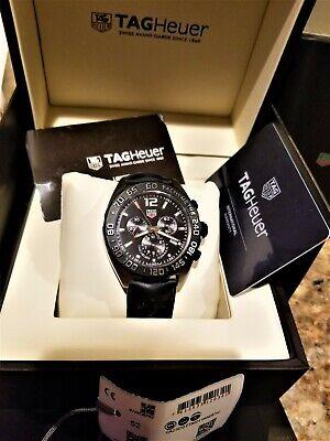 TAG Heuer Formula 1 Quartz Chronograph Black Men's Watch CAZ1010 Box Full Set