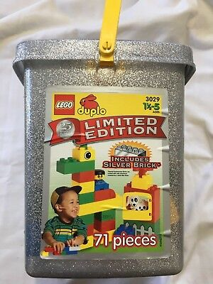 LEGO DUPLO LIMITED EDITION 3029 SILVER BRICK PIECE 25 ANNIVERSARY