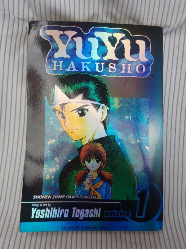 Yu Yu Hakusho Limited Holographic Edition Volume 1 Shonen Jump RARE OOP