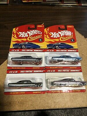 Hot Wheels Classics Series 2 1965 Pontiac Bonneville Lot Of 4 Different Colors