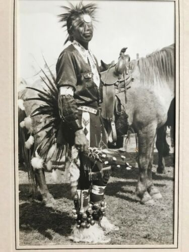 1930s Silver Gelatin Art Photograph of Sioux Native American Indian at Rodeo
