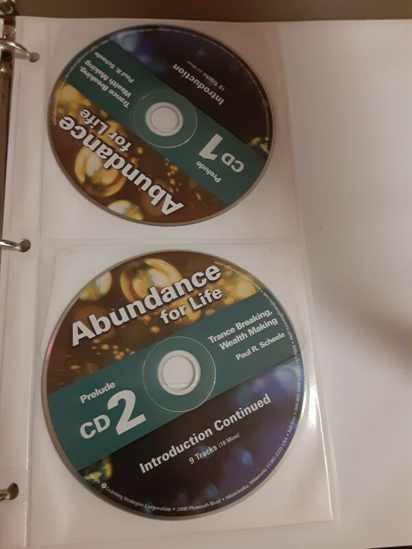 Abundance For Life, P. Scheele,  24 cd Course Learning Strategies Corporation /