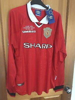 Manchester United Retro Remake Champions League winners shirt (M) 1999 BECKHAM 7