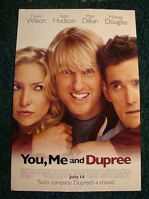 YOU, ME AND DUPREE - MOVIE POSTER WITH OWEN WILSON, KATE HUDSON & MATT DILLON