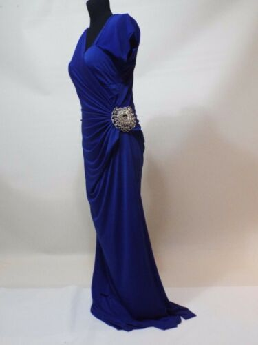 Blue silver wedding / party dress gown size M free shipping