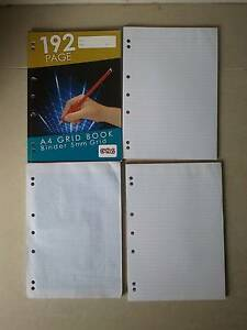 A4 Grid Book, and 2 A4 binder books Kensington Eastern Suburbs Preview