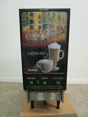 Bunn Commercial Hot Powdered Drink Machine 3 Hoppers Cafe 120v Cappuccino