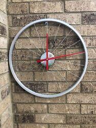 Bicycle Tire Rim & Spokes Wall Clock Unique Home Decor Bicyclists