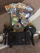 Playstation 2 with games and controls Wakerley Brisbane South East Preview