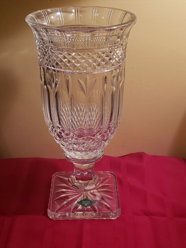 "Shannon Crystal Vase - 13"" Tall - Large/Heavy - ""Design"