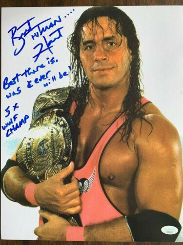 WWE Bret the Hitman Hart Autographed Signed 11x14 Photo JSA COA #3