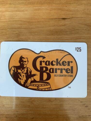 25.00 Cracker Barrel Gift Card - $21.51