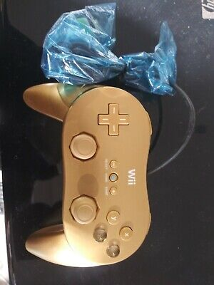 Genuine OEM Nintendo GOLD Golden Wii Classic Controller Pro Brand New No Box