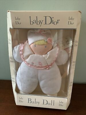 """Vtg NEW Baby Dior~Baby DOLL~Cloth Made By Eden Toy~White Soft Blue Eyes Blond11"""""""