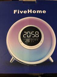 All -in-One Wake Up Light Alarm Clock with FM Radio, Sleep Sound Machine,Sleep