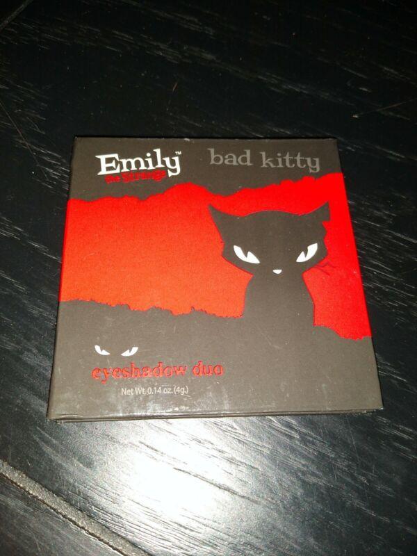 Emily the Strange 2005 Bad Kitty Eyeshadow Duo New Black & Pink Makeup Hot Topic