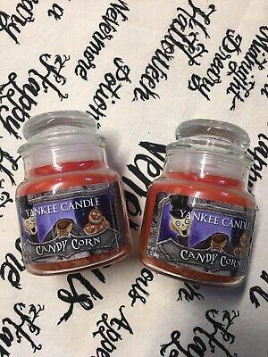 2 YANKEE CANDLE Boney Bunch 3.7 OZ SMALL JARS Candy CORN Rare New