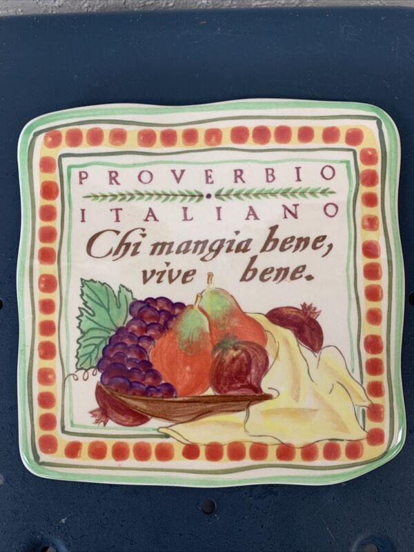 2005 CORTOPASSI Family Proverbio Italiano Tile Trivet