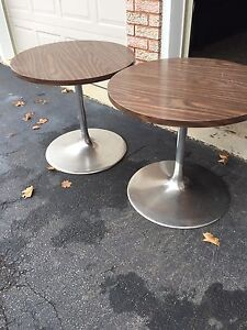 A set of bistro tables