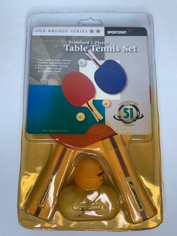 Sportcraft Bronze Series Ping Pong Table Tennis Set Wood Paddles #19050 -New