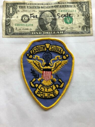 Rare South Sioux Nebraska Police Patch (City Police) Un-sewn in great shape