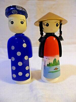 Dolls Figurines Vietnam Boy & Girl ()