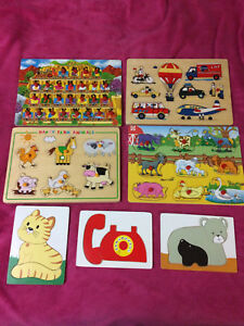 Wooden puzzles for preschool age