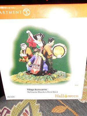 DEPT 56 HALLOWEEN VILLAGE Accessory HALLOWEEN MONSTERS ROCK BAND NIB - Monsters Halloween Village