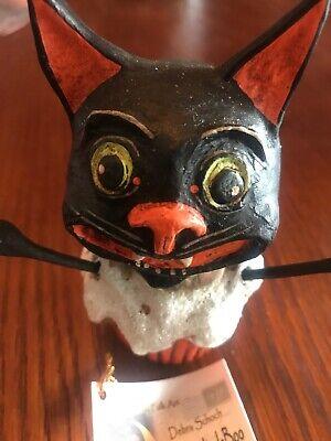 "Halloween 4.5"" Black Cat Cupcake by Debra Schoch Bethany Lowe Item Retired"